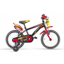 "Lombardo Brera 16"" Kids Black Red Glossy"
